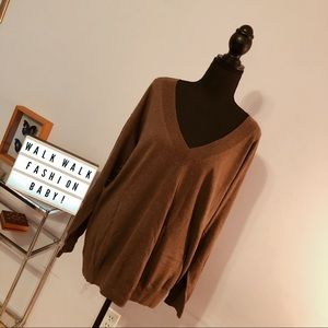 Brown Sweater with Cashmere
